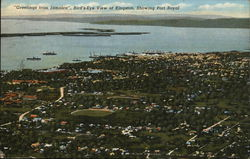 Bird's-Eye View of City, Showing Port Royal
