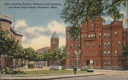 Armory, Women's Club Building and North HIgh School