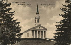 Mead Memorial Chapel, Middlebury College.