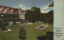 Hotel Moraine-on-the-Lake - East Lawn Postcard