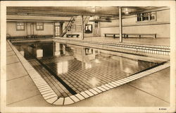 Western Military Academy, Swimming Pool Postcard