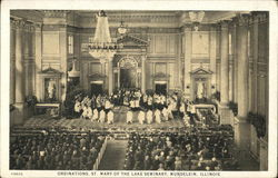St. Mary of the Lake Seminary - Ordinations Postcard