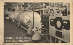 Modern Churn Room, Lakevill Creamery