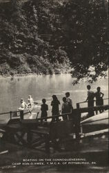BOATING ON THE CONNOQUENESSING, CAMP KON-O-KWEE. Y.M.C.A. OF PITTSBURGH, PA