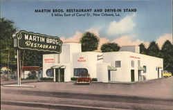 Martin Bros. Restaurant and Drive-In Stand, 5 Miles East of Canal St.