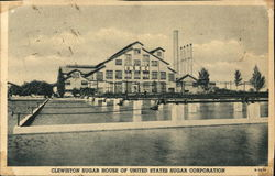 Clewiston Sugar House of United States Sugar Corporation Postcard