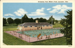 Swimming Pool at Miller's Park Postcard