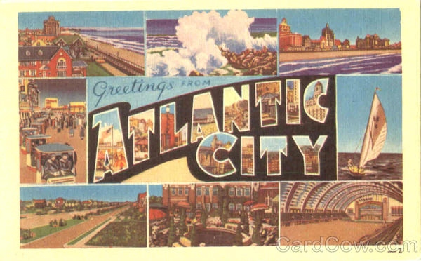 Greetings From Atlantic City New Jersey Large Letter