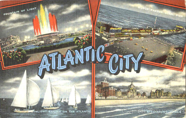Atlantic City New Jersey Large Letter