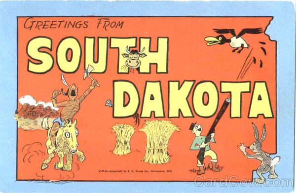 Greetings From South Dakota Large Letter