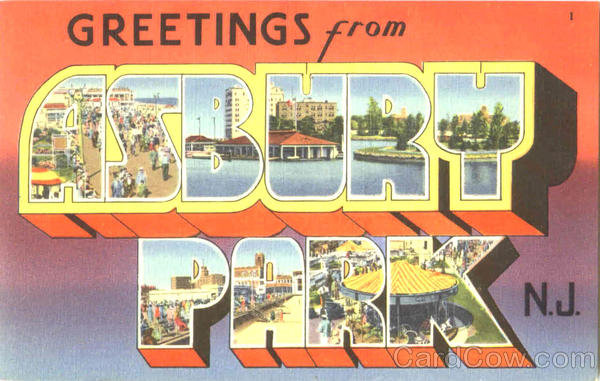 Greetings From Asbury Park New Jersey Large Letter