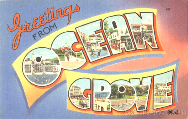 Greetings From Ocean Grove New Jersey