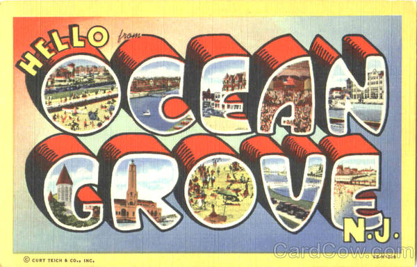 Hello Ocean Grove New Jersey Large Letter