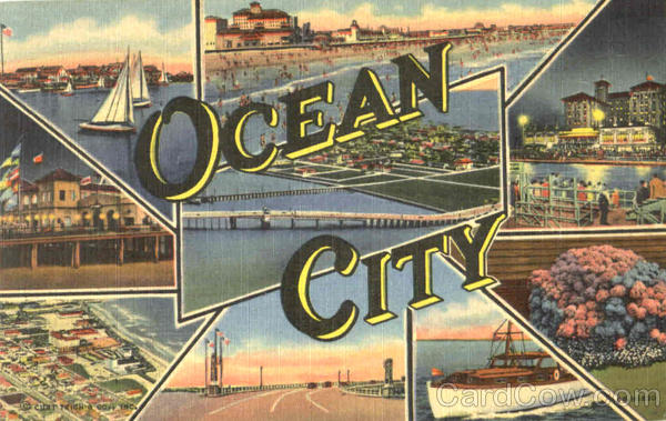 Ocean City New Jersey Large Letter