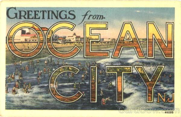 Greetings From Ocean City New Jersey Large Letter