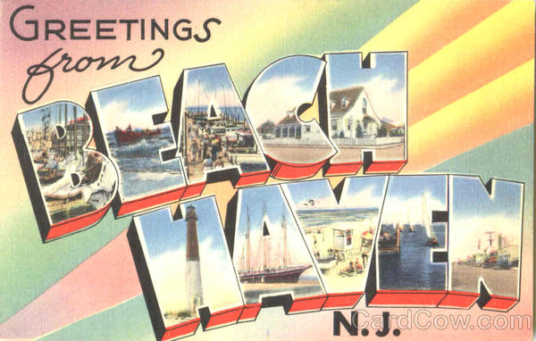 Greetings From Beach Haven New Jersey Large Letter