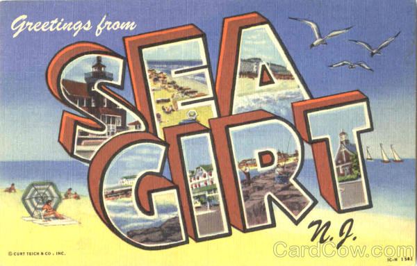 Greetings From Sea Girt New Jersey Large Letter