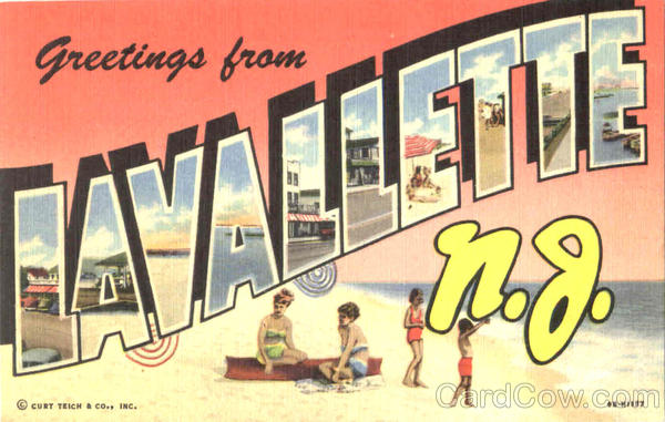 Greetings From Lavallette New Jersey Large Letter