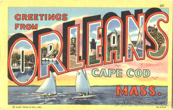 Greetings From Orleans Cape Cod Massachusetts Large Letter