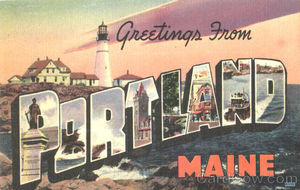 Greetings From Portland Maine Large Letter