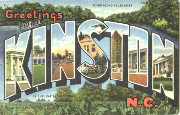 Greetings From Kinston North Carolina Large Letter