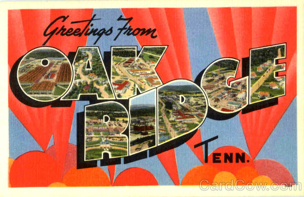 Greetings From Oak Ridge Tennessee Large Letter