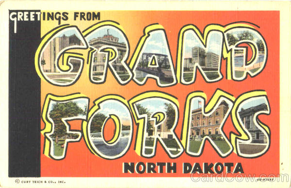 Greetings From Grand Forks North Dakota Large Letter
