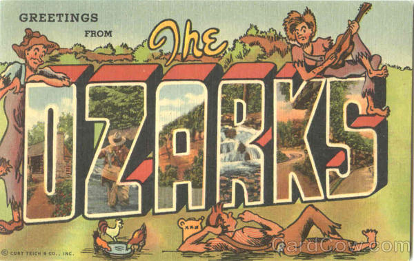Greetings From The Ozarks Missouri Large Letter