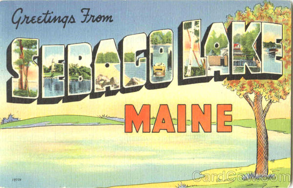 Greetings From Sebago Lake Maine Large Letter