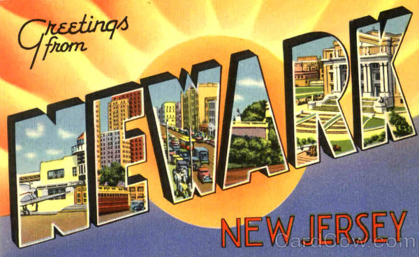 Greetings From Newark New Jersey Large Letter