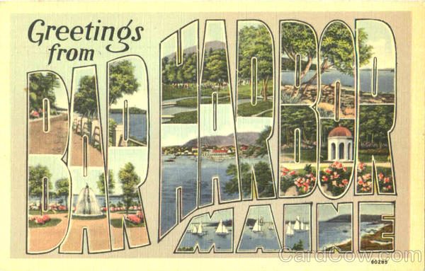 Greetings From Bar Harbor Maine Large Letter