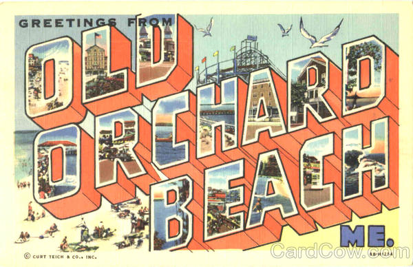 Greetings From Old Orchard Beach Maine Large Letter