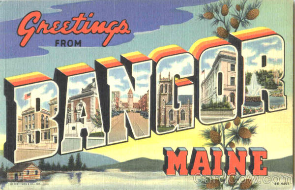 Greetings From Bangor Maine Large Letter