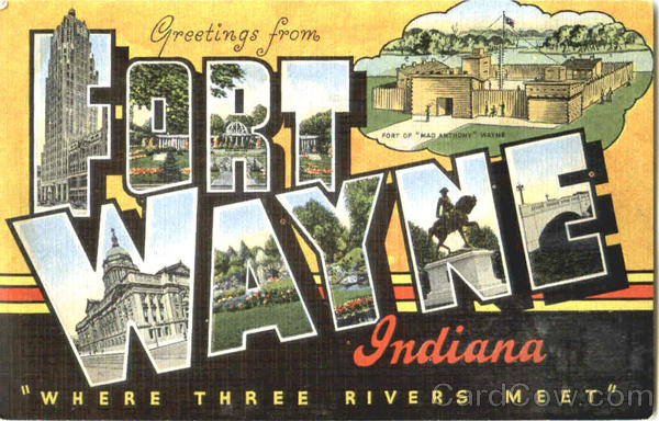 Greetings From Fort Wayne Indiana Large Letter