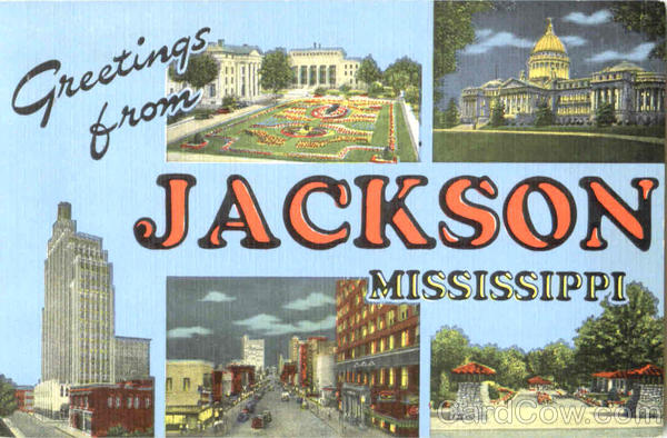 Greetings From Jackson Mississippi Large Letter