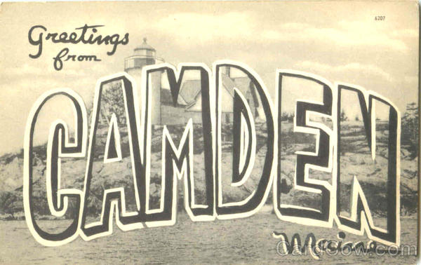 Greetings From Gamden Camden Maine Large Letter