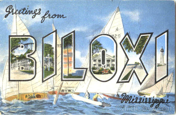 Greetings From Biloxi Mississippi Large Letter