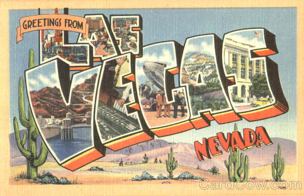 Greetings From Las Vegas Nevada Large Letter