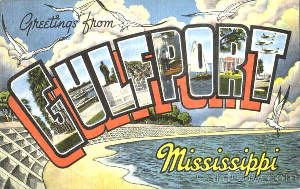 Greetings From Gulfport Mississippi Large Letter