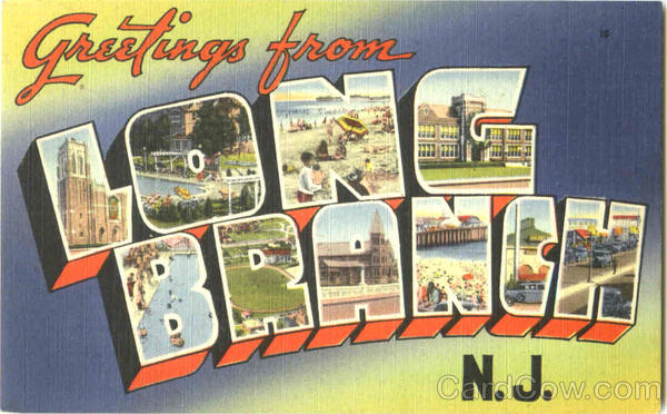 Greetings From Long Branch New Jersey Large Letter