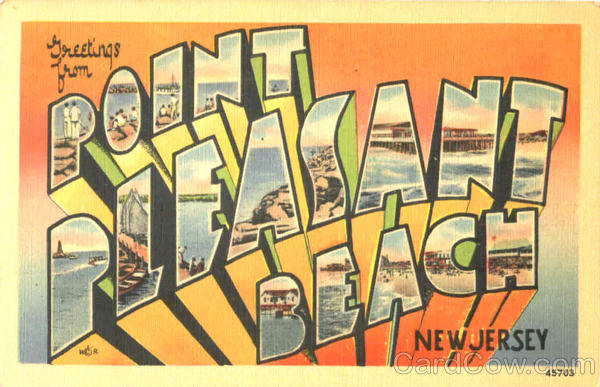Greetings From Point Pleasant Beach New Jersey Large Letter