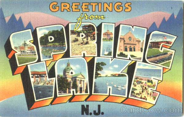 Greetings From Spring Lake New Jersey Large Letter