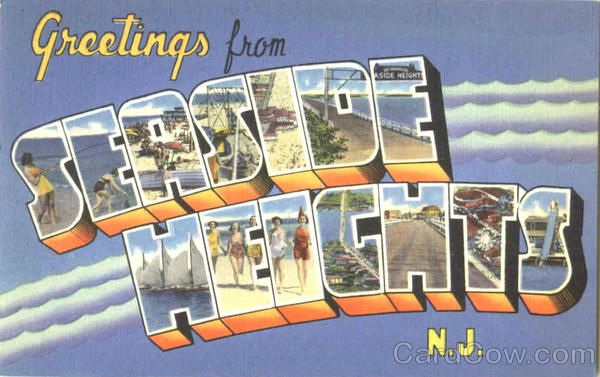 Greetings From Seaside Heights New Jersey Large Letter