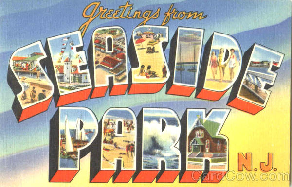 Greetings From Seaside Park New Jersey Large Letter