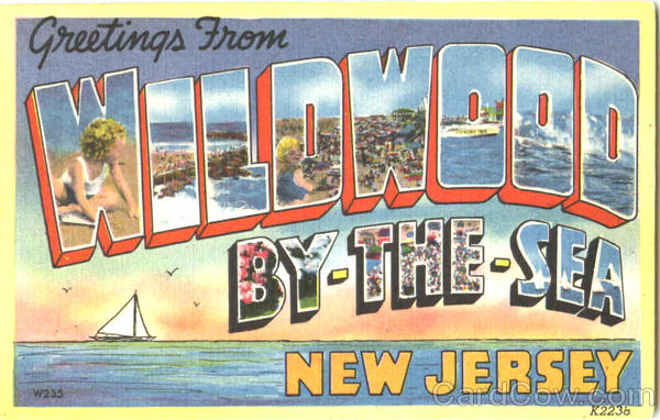 Greetings From Wildwood New Jersey Large Letter