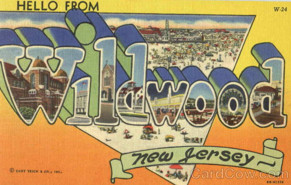 Hello From Wildwood New Jersey Large Letter