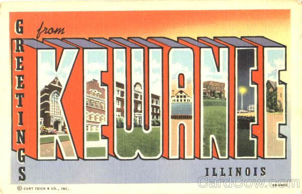 Greetings From Kewanee Illinois Large Letter