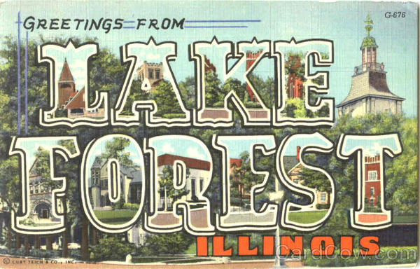 Greetings From Lake Forest Illinois Large Letter