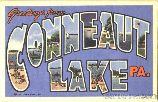 Greetings From Conneaut Lake Pennsylvania Large Letter
