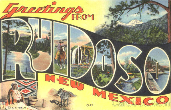 Greetings From Ruidoso New Mexico Large Letter